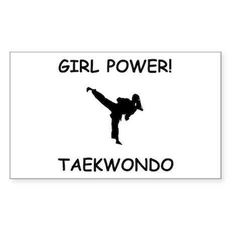 Girl Power Rectangle Sticker