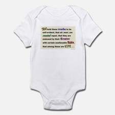 Declaration of Life Infant Bodysuit
