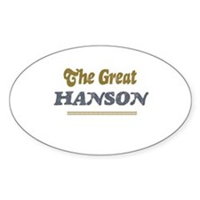 Hanson Oval Decal