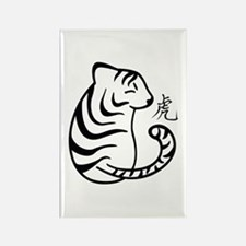 Zodiac-Tiger Rectangle Magnet Magnets