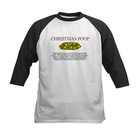 CHRISTMAS POOP SHIRT FUNNY PO Kids Baseball Jersey