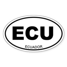 Ecuador Oval Decal