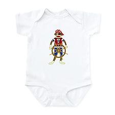 Sock Monkey Pirate Infant Bodysuit