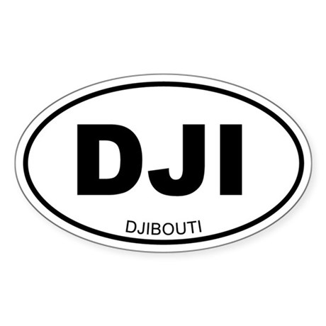 Djibouti Oval Sticker