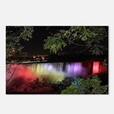 American Falls at night Postcards (Package of 8)