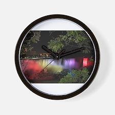 American Falls at night Wall Clock