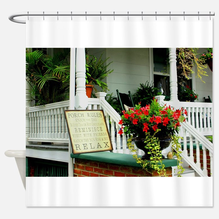 Porch Relaxing Shower Curtain