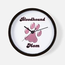 Bloodhound Mom3 Wall Clock