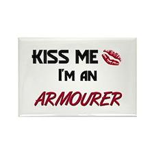 Kiss Me I'm a ARMOURER Rectangle Magnet