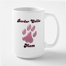 Border Collie Mom3 Large Mug