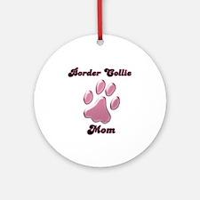 Border Collie Mom3 Ornament (Round)