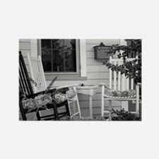 Porch Chairs - black and white Magnets
