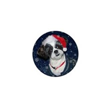 Shih Tzu Santa Mini Button