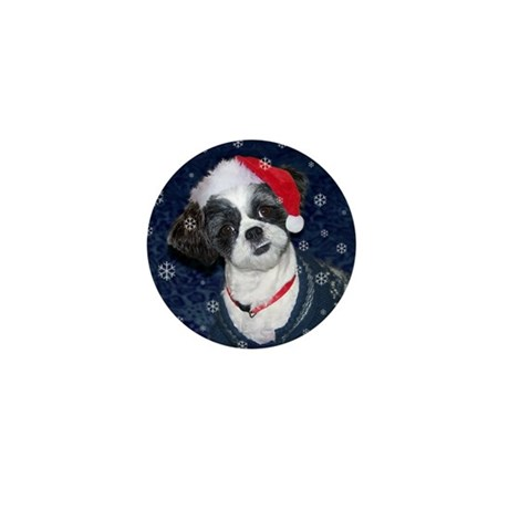 Shih Tzu Santa Mini Button (100 pack)