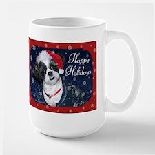 Shih Tzu Santa Large Mug