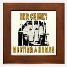 Her Crime? Framed Tile