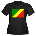 Congo Women's Plus Size V-Neck Dark T-Shirt