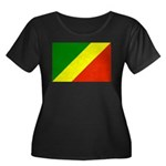 Congo Women's Plus Size Scoop Neck Dark T-Shirt