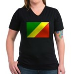 Congo Women's V-Neck Dark T-Shirt