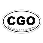 Republic of the Congo Oval Sticker