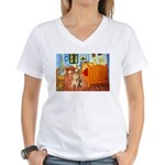 Room / Golden Women's V-Neck T-Shirt