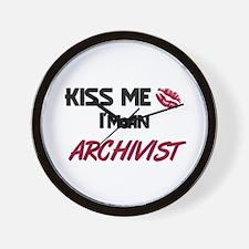 Kiss Me I'm a ARCHIVIST Wall Clock
