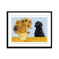 Sunflowers / Lab Framed Panel Print