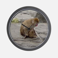 snow monkey 2 Wall Clock