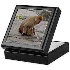snow monkey 2 Keepsake Box