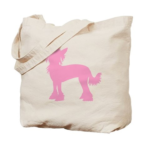 Chinese Crested Pink Tote Bag