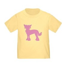 Chinese Crested Pink T
