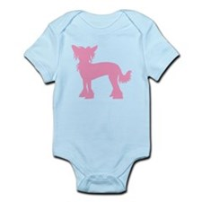 Chinese Crested Pink Infant Bodysuit