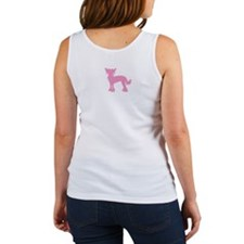 Chinese Crested Pink Women's Tank Top
