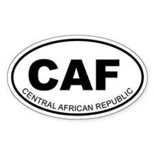 Central African Republic Oval Decal