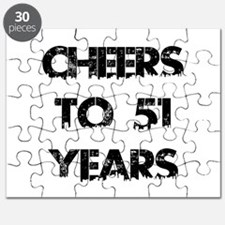 Cheers To 51 Years Designs Puzzle