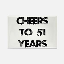 Cheers To 51 Years Designs Rectangle Magnet