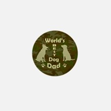 Worlds Best Dog Dad Mini Button