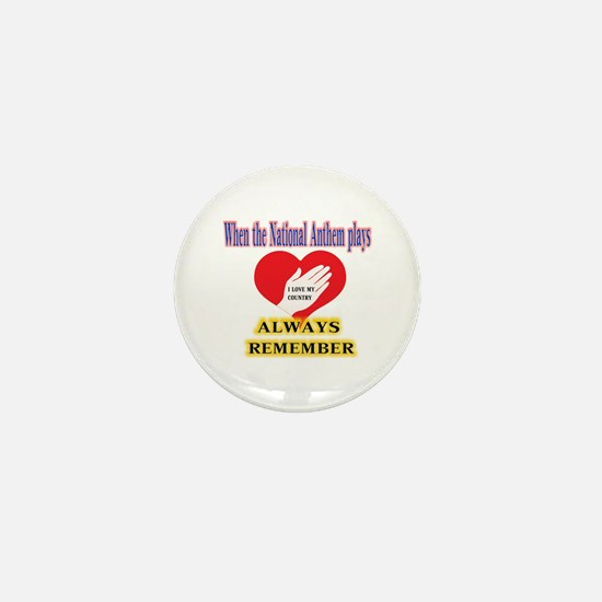 Hand Over Your Heart Mini Button