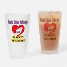 Hand Over Your Heart Drinking Glass