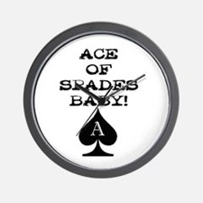 Ace of Spades Baby Wall Clock