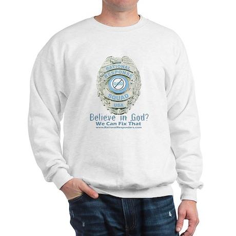 Baby Blue Badge (blue womens Sweatshirt