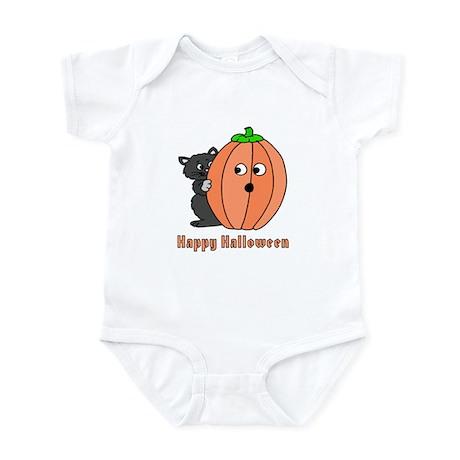 Kitten with Pumpkin Infant Bodysuit
