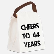 Cheers To 44 Years Designs Canvas Lunch Bag