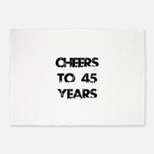 Cheers To 45 Years Designs 5'x7'Area Rug