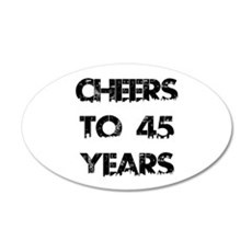 Cheers To 45 Years Designs Wall Decal