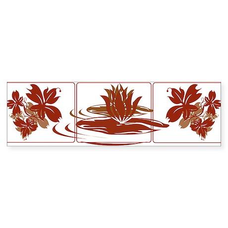 Rangoli Zen - Lily Bumper Sticker