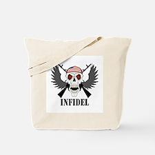Infidel Skull Tote Bag