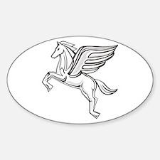 Chasing Pegasus Oval Decal