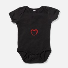 I support my dad with all my heart Baby Bodysuit