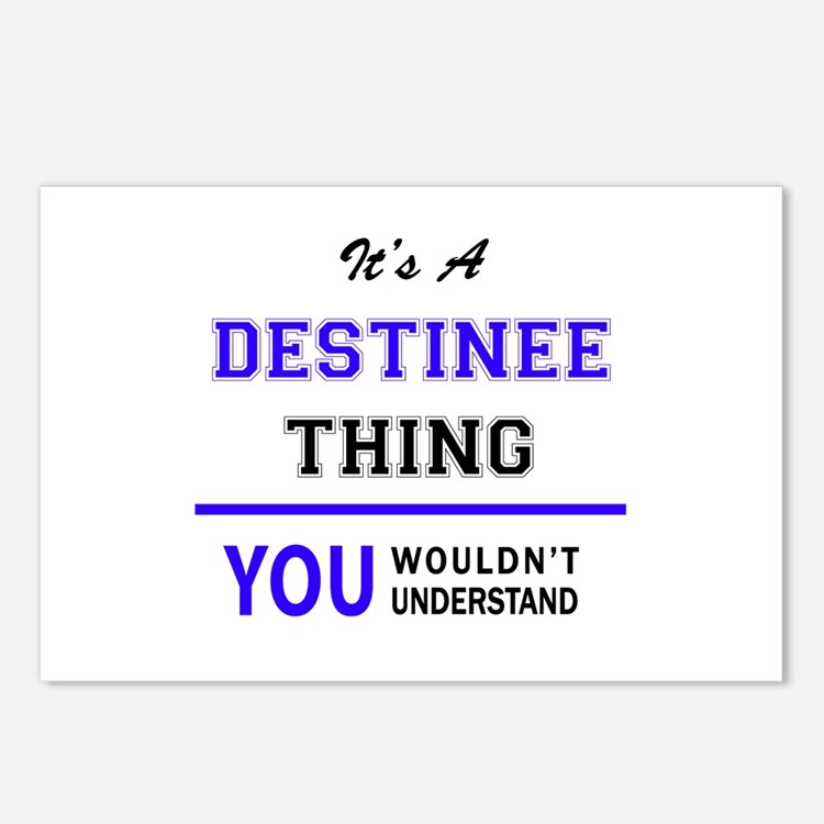 It's DESTINEE thing, you Postcards (Package of 8)
